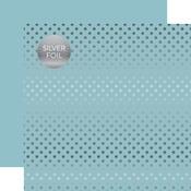 Bluebell Silver Foil Dot Paper - Spring Silver Foil 2018 - Echo Paper