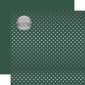 Mallard Silver Foil Dot Paper - Spring Silver Foil 2018 - Echo Paper