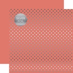 Peony Silver Foil Dot Paper - Spring Silver Foil 2018 - Echo Paper