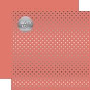 Peony Silver Foil Dot Paper - Spring Silver Foil 2018 - Echo Paper