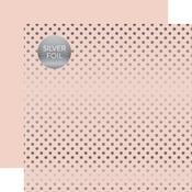 Blossom Silver Foil Dot Paper - Spring Silver Foil 2018 - Echo Paper