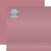 Mauve Silver Foil Dot Paper - Spring Silver Foil 2018 - Echo Paper