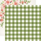 Garden Gingham Paper - Spring Market - Carta Bella