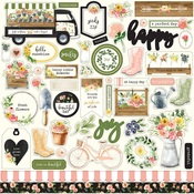 Spring Market Sticker Sheet - Carta Bella