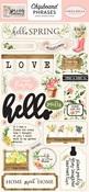 Spring Market Chipboard Phrases - Carta Bella