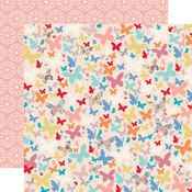 Beautiful Butterflies Paper - Practically Perfect - Carta Bella - PRE ORDER