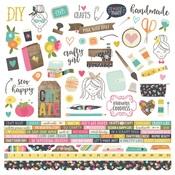 Crafty GirlCombo Sticker - Simple Stories