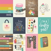 3x4 Elements Paper - Crafty Girl - Simple Stories - PRE ORDER