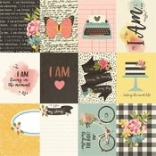 3x4 Journaling Card Foiled Paper - I Am... - Simple Stories - PRE ORDER
