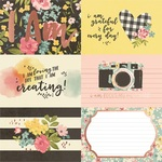 4x6 Horizontal Elements Foiled Paper - I Am... - Simple Stories