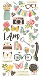 I Am… Chipboard Stickers - Simple Stories