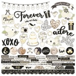 Always & Forever Combo Sticker Sheet - Simple Stories