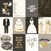 3x4 Elements Foiled Paper - Always & Forever - Simple Stories - PRE ORDER