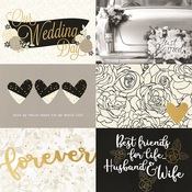 4x6 Horizontal Elements Foiled Paper - Always & Forever - Simple Stories