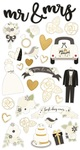 Always & Forever Chipboard Stickers - Simple Stories
