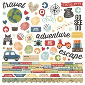 Travel Notes Combo Sticker - Simple Stories
