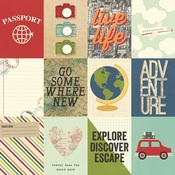 3x4 Elements Paper - Travel Notes - Simple Stories - PRE ORDER