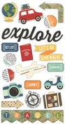 Travel Notes Chipboard Stickers - Simple Stories