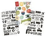 Travel Notes Clear Stickers - Simple Stories - PRE ORDER