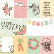 3x4 & 4x6 Elements Paper - Happy Easter - Simple Stories Simple Set - PRE ORDER