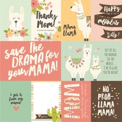3x4 & 4x6 Elements Paper - Mama Llama - Simple Stories - PRE ORDER