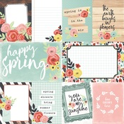 3x4 & 4x6 Elements Paper - Welcome Spring - Simple Stories Simple Set - PRE ORDER