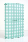 Teal Gingham Travelers Notebook - Echo Park