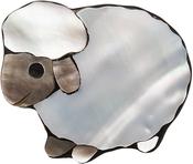Sheep - Paradise Inlaid Shell Needle Keeper