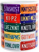 License Plate - K1C2 Knit Happy Mug 11oz