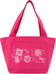 "Hot Pink - K1C2 Quilt Happy Petite Project Bag 13""X8""X5"""