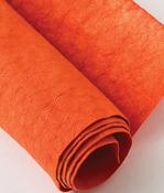 "Tangerine Tango - Kraft-Tex Kraft Paper Fabric 18.5""X28.5"""