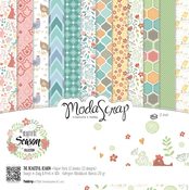 "Beautiful Season - Elizabeth Craft ModaScrap Paper Pack 6""X6"" 12/Pkg"