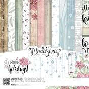 """Christmas Holidays - Elizabeth Craft ModaScrap Paper Pack 6""""X6"""" 12/Pkg"""