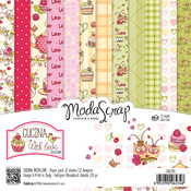 "Cucina With Love - Elizabeth Craft ModaScrap Paper Pack 6""X6"" 12/Pkg"