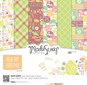 "Healthy Lifestyle - Elizabeth Craft ModaScrap Paper Pack 6""X6"" 12/Pkg"