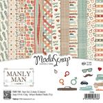 "Manly Man - Elizabeth Craft ModaScrap Paper Pack 6""X6"" 12/Pkg"