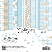 "My Little Boy - Elizabeth Craft ModaScrap Paper Pack 6""X6"" 12/Pkg"