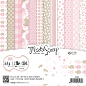 "My Little Girl - Elizabeth Craft ModaScrap Paper Pack 6""X6"" 12/Pkg"