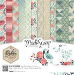 "Relax In The Garden - Elizabeth Craft ModaScrap Paper Pack 6""X6"" 12/Pkg"