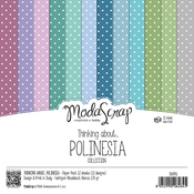 "Thinking About Polinesia - Elizabeth Craft ModaScrap Paper Pack 6""X6"" 12/Pkg"