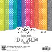 "Thinking About Rio De Janeiro - Elizabeth Craft ModaScrap Paper Pack 6""X6"" 12/Pkg"