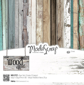 "Wood Effect - Elizabeth Craft ModaScrap Paper Pack 6""X6"" 12/Pkg"