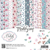 "Butterfly Dream - Elizabeth Craft ModaScrap Paper Pack 6""X6"" 12/Pkg"