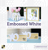 "Embossed White Solid, White Core - DCWV Single-Sided Cardstock Stack 12""X12"" 36/Pkg"