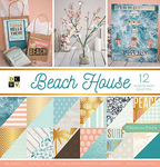 "Beach House W/Gold Foil - DCWV Double-Sided Paper Stack 12""X12"" 36/Pkg"