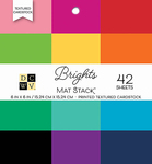 "Brights Textured Solid - DCWV Single-Sided Cardstock Stack 6""X6"" 42/Pkg"