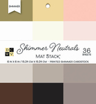 "Shimmer Neutrals Solid - DCWV Single-Sided Cardstock Stack 6""X6"" 36/Pkg"