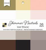 "Shimmer Neutrals Solid - DCWV Single-Sided Cardstock Stack 6""X6"" 36/Pkg"