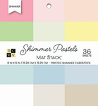 "Shimmer Pastels Solid - DCWV Single-Sided Cardstock Stack 6""X6"" 36/Pkg"