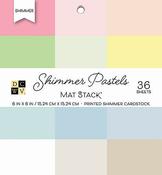 """Shimmer Pastels Solid - DCWV Single-Sided Cardstock Stack 6""""X6"""" 36/Pkg"""